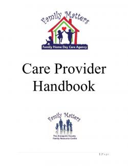 Care Provider Handbook